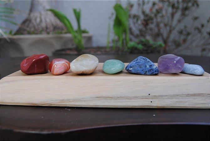 Kit Pedras Equilibrio dos Chakras