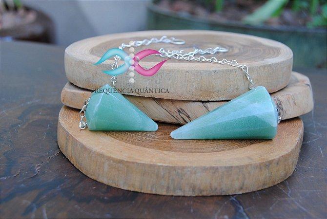 Pendulo de quartzo verde