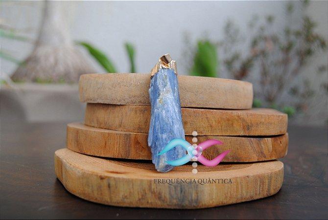 Pingente Cianita Azul Proteção de Arcanjo Miguel