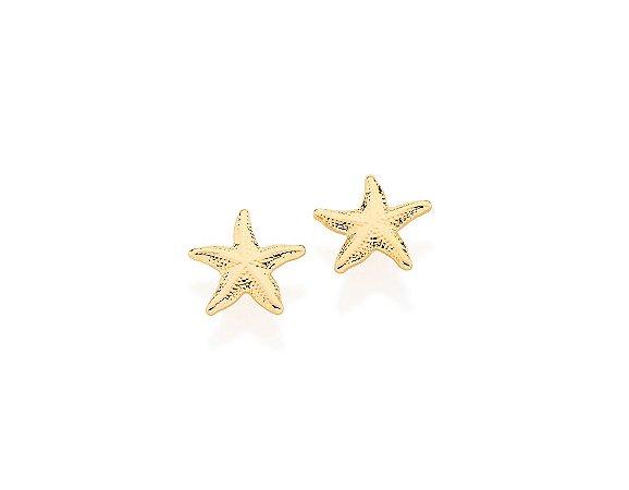 Brinco Estrela Do Mar Folheado A Ouro Rommanel 525088