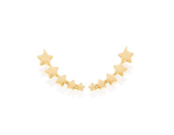 Brinco Ear Cuff de Estrelas Folheado A Ouro Rommanel 525944