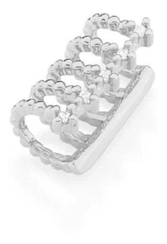 Brinco Rhodium Rommanel Ear Cuff Aros Com Zircônias 121684