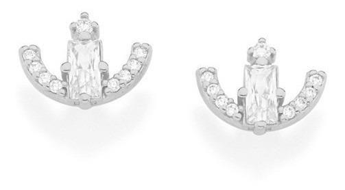 Brinco Rhodium Rommanel Ancora Com Zircônias  121692