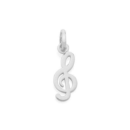 Pingente Nota Musical Folheado A Rhodium Rommanel 140784