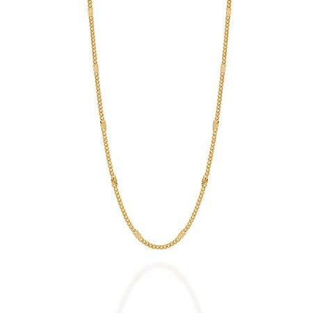 cordão Rommanel Folheado a ouro diamantada