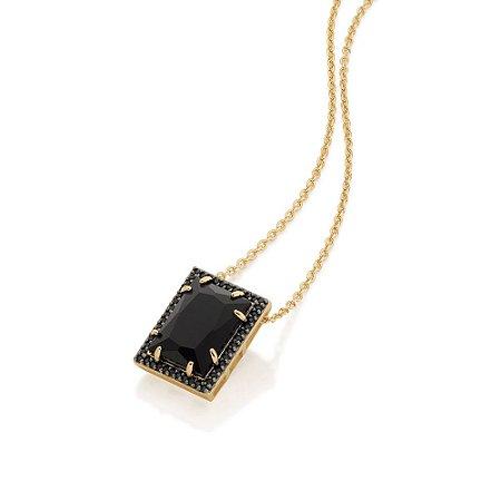 Gargantilha com Cristal Rommanel Folheado A Ouro 531984