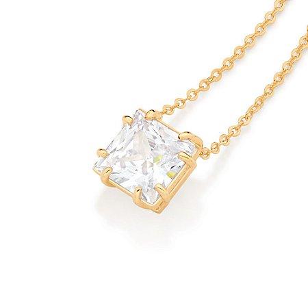 Gargantilha Com cristal Folheado A Ouro Rommanel 532014