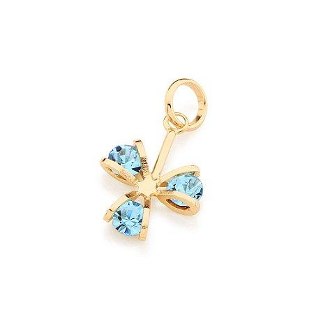 Pingente Flor Com Cristais Folheado A Ouro Rommanel 541784