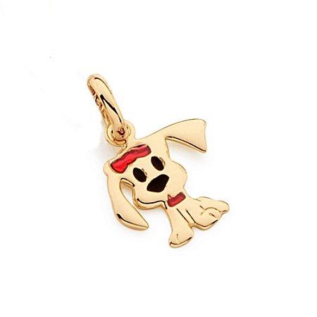 Pingente De Cachorro Folheado A Ouro Rommanel 541800