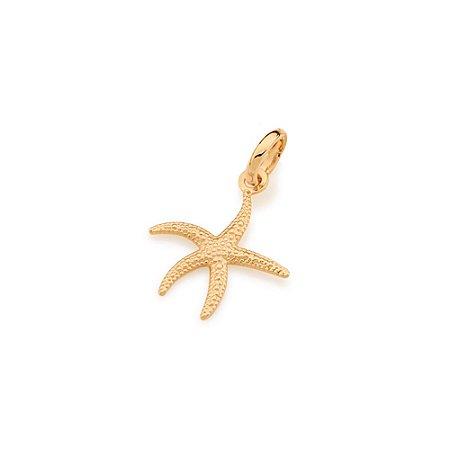 Pingente Estrela Do Mar Folheado A Ouro Rommanel 541912