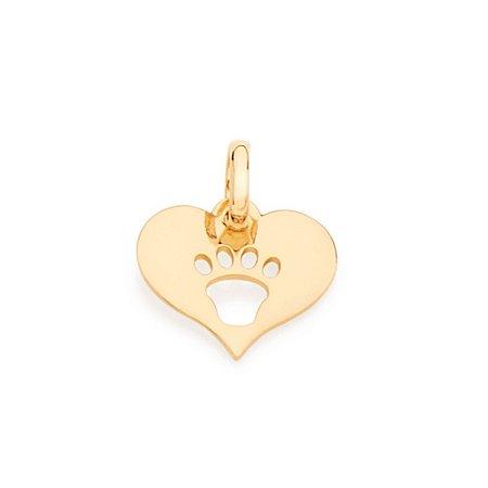 Pingente de coração Folheado A Ouro Rommanel 542074