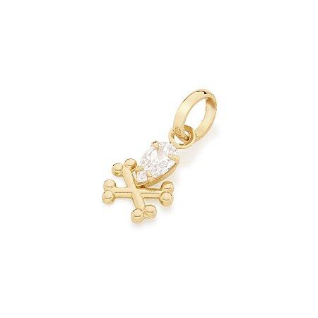 Pingente De Caveira Folheado A Ouro Rommanel 542102