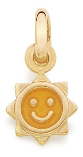 Pingente Infantil De Sol Folheado A Ouro Rommanel 542162