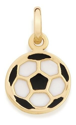Pingente De Bola Infantil Folheado A Ouro Rommanel 542163