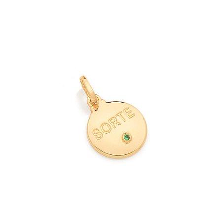 Pingente Sorte Folheado A Ouro Rommanel 542250