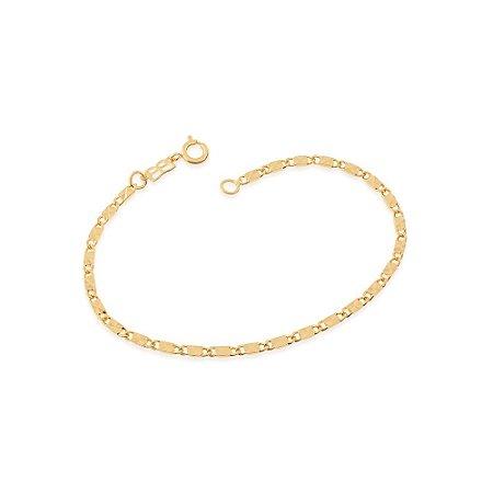 Pulseira Fio Diamantado Folheado A Ouro Rommanel 550458