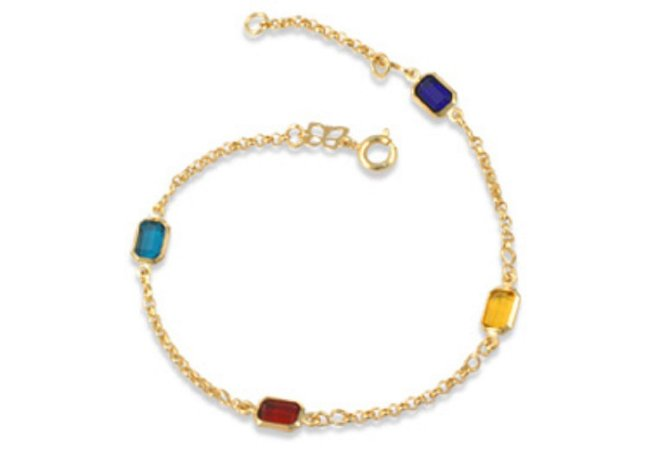 Pulseira de cristais Folheado A Ouro Rommanel 550678