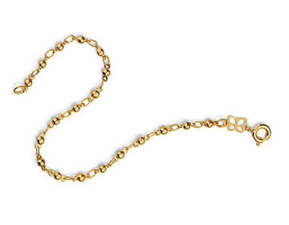 Pulseira fio com bolinhas Folheada A Ouro Rommanel 550692