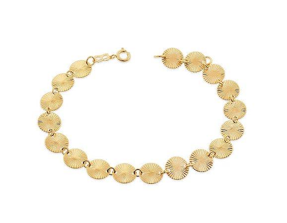 Pulseira Com Círculos Folheada A Ouro Rommanel 550715