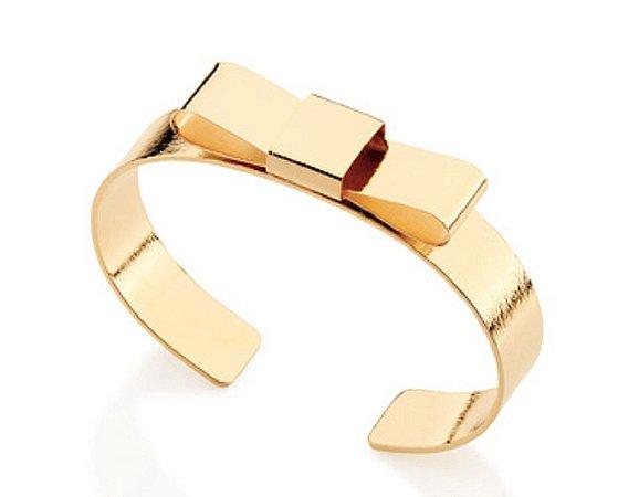 Bracelete Com Laço Folheado A Ouro Rommanel 551175