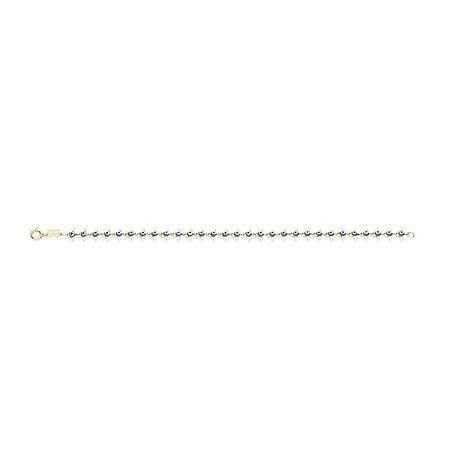 Pulseira De Olho Grego Folheado A Ouro Rommanel 551282