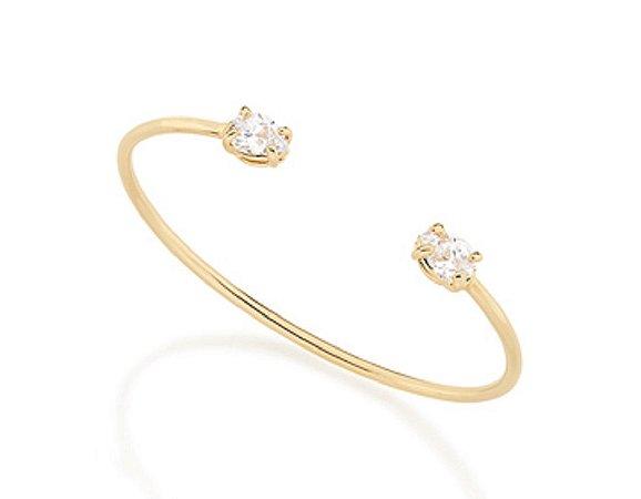 Bracelete com Zircônios Rommanel Folheado A Ouro 551451