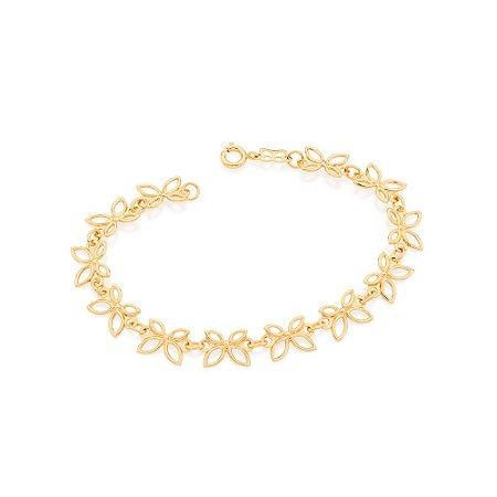Pulseira de Borboletas Rommanel Folheada A Ouro 551496