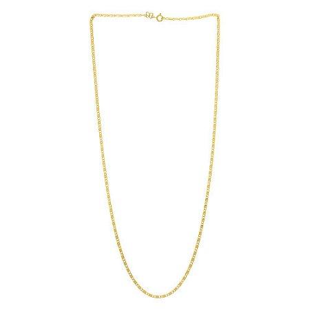 Corrente De Fio Diamantado Folheado A Ouro Rommanel 530646