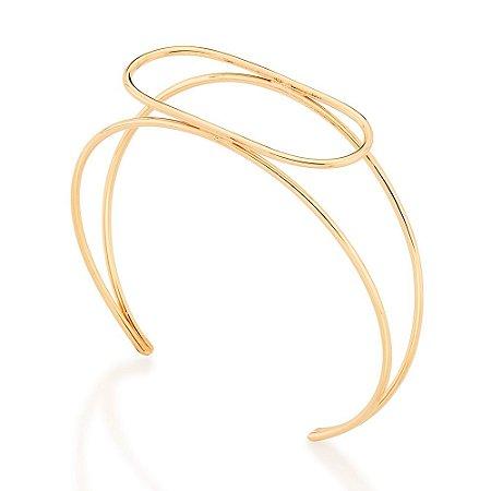 Bracelete Aro Duplo Folheado A Ouro Rommanel 551643