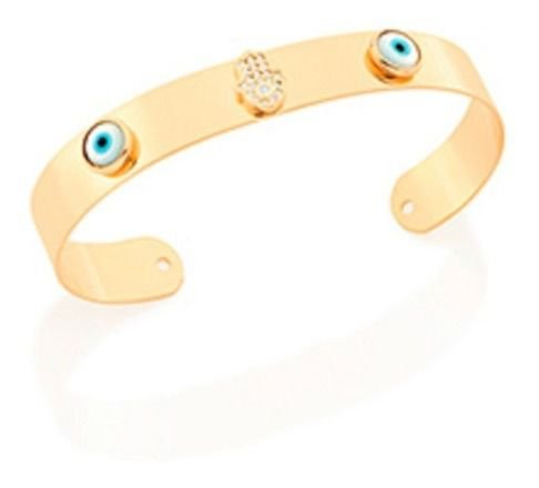 Bracelete de Olhos Gregos Folheado A Ouro Rommanel 551665