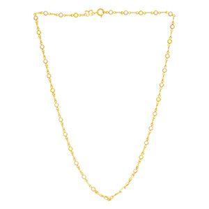 Gargantilha Folheada A Ouro Rommanel Pedras Coloridas 530871