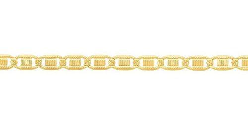 Corrente de elos achatados Folheado A Ouro Rommanel 530803