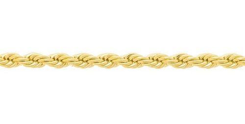 Corrente corda torcida Folheado A Ouro Rommanel 530742