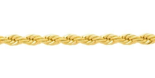 Corrente de corda torcida Folheada A Ouro  Rommanel 530741