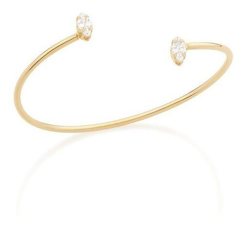 Bracelete Folheado A Ouro Rommanel Com Zircônios 551557