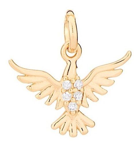 Pingente De Espírito Santo Folheado A Ouro Rommanel 542138