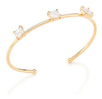 Bracelete Rommanel Folheado A Ouro E Zircônios Carrês 551613
