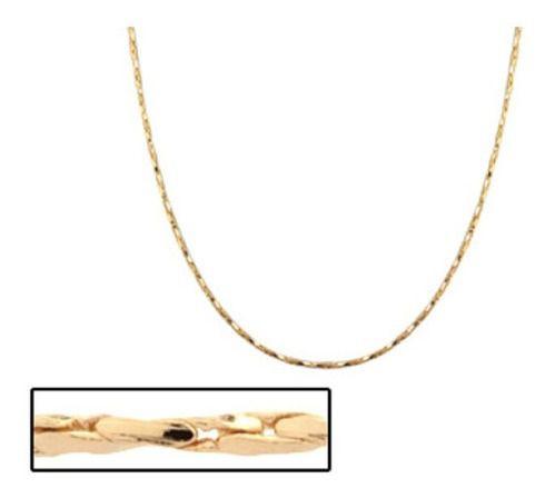 Corrente fio Diamantado e Folheado A Ouro Rommanel 530445