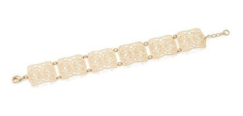 Pulseira Folheado A Ouro Rommanel Arabescos De Flores 551610