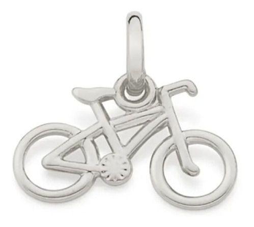 Pingente De Bicicleta Folheado A Rhodium Rommanel 140805