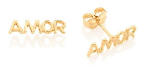 Brinco Amor Folheado A Ouro Rommanel 526448