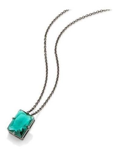 Gargantilha Rommanel A Rhodium Negro Com Cristal 430015
