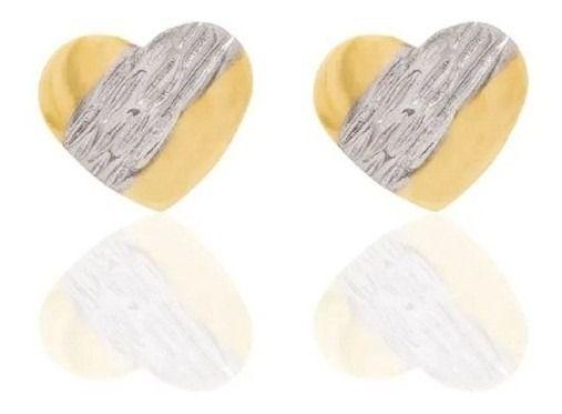 Brinco De Coração Folheado A Ouro Rommanel  520240