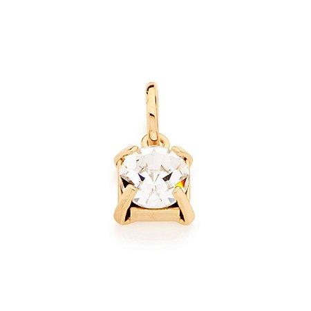 Pingente De Cristal E Folheado A Ouro Rommanel 541540