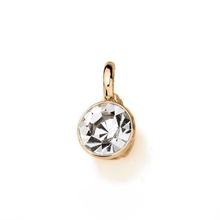 Pingente De Cristal E Folheado A Ouro Rommanel  541496