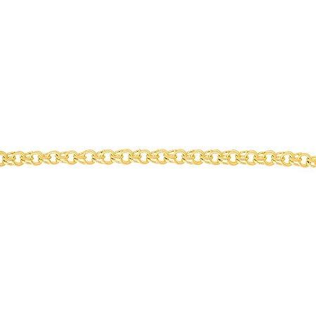 Cordão Folheado A Ouro Rommanel De Fio Frisado 530239