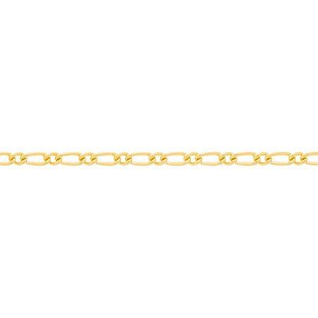 Corrente Folheado A Ouro Rommanel Fio Alternado 530147