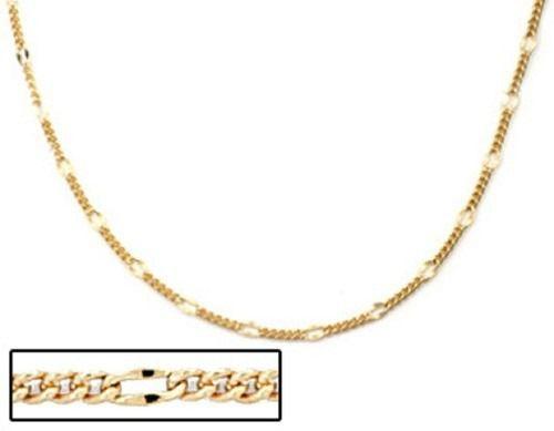 Corrente Folheado A Ouro Rommanel Fio Alternado 530072
