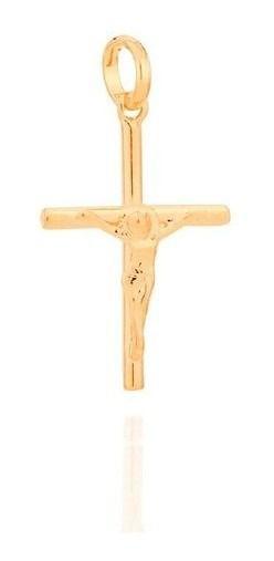 Pingente Crucifixo Folheado A Ouro Rommanel  540003
