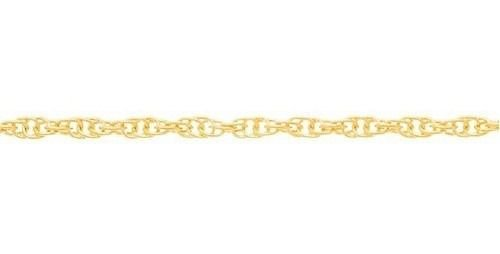 Corrente Folheado A Ouro Rommanel De Fio Meia Corda 530302